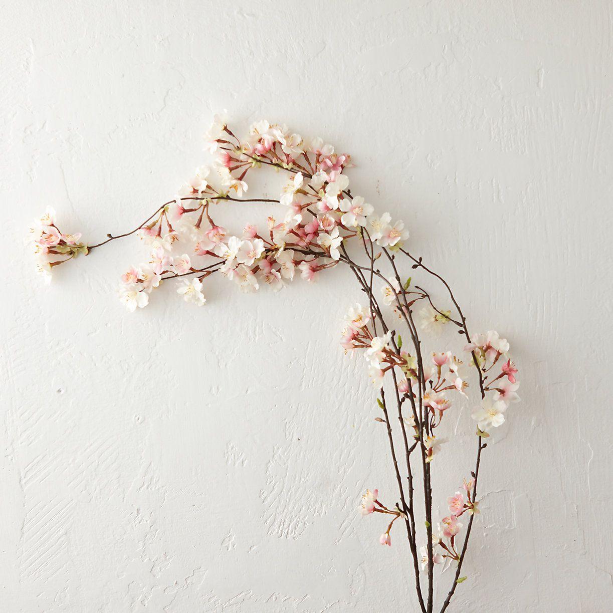 Silk Cherry Blossom Spray Flower Aesthetic Cherry Blossom Art Cherry Blossom