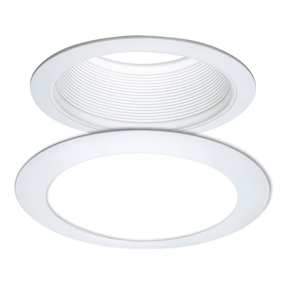 Halo E Series 6 In White Baffle Recessed Light Trim Re 6100wb In 2021 Recessed Light Trim Recessed Lighting Recessed Lighting Trim
