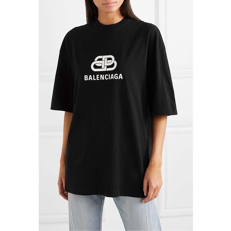 Balenciaga Women Oversized BB T-Shirt