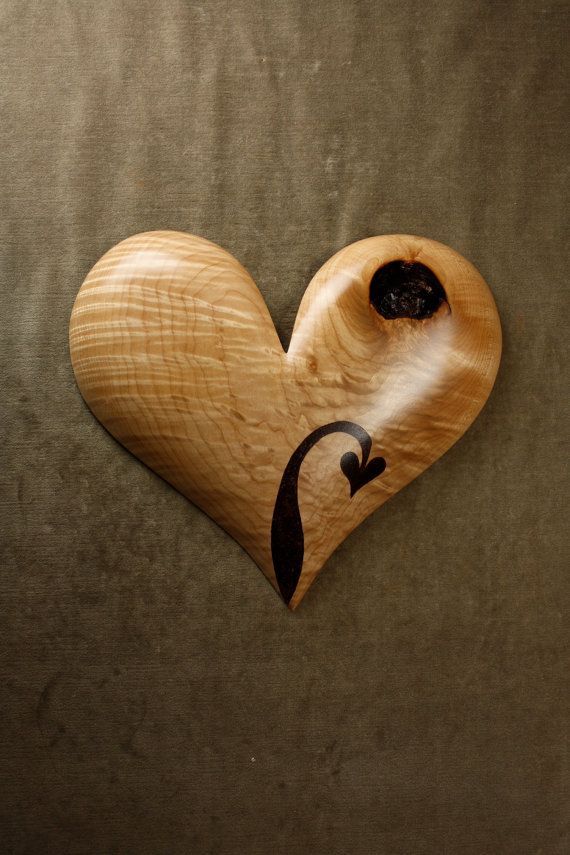 A Personalized 5th Wood Wedding Anniversary Gift Heart A Unique