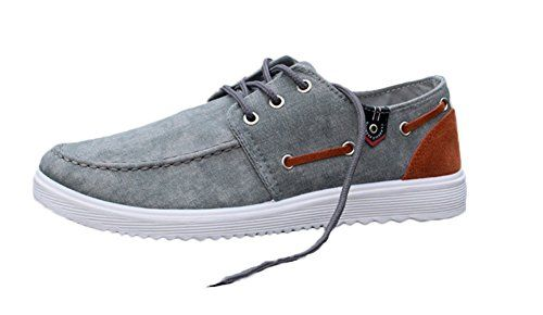 King Ma Men's British Style Canvas Lace Up Fashion Low Sn...