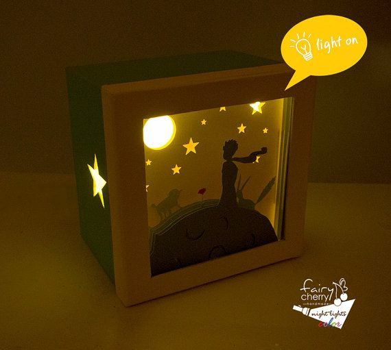 Baby Bedroom In A Box Special: The Little Prince Shadow Box Night Light Special By