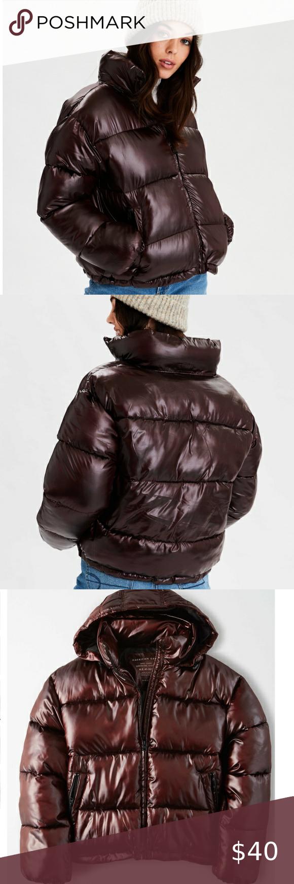 Ae Shiny Puffer Jacket Newwt Puffer Jackets Puffer Jackets [ 1740 x 580 Pixel ]