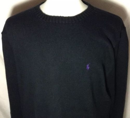 Polo Ralph Lauren Sweater XLT Tall Mens 100% Cotton Purple Pony ...
