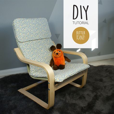 Kindersessel design  DIY Tutorial » Bezug für Ikea Poäng Kindersessel nähen
