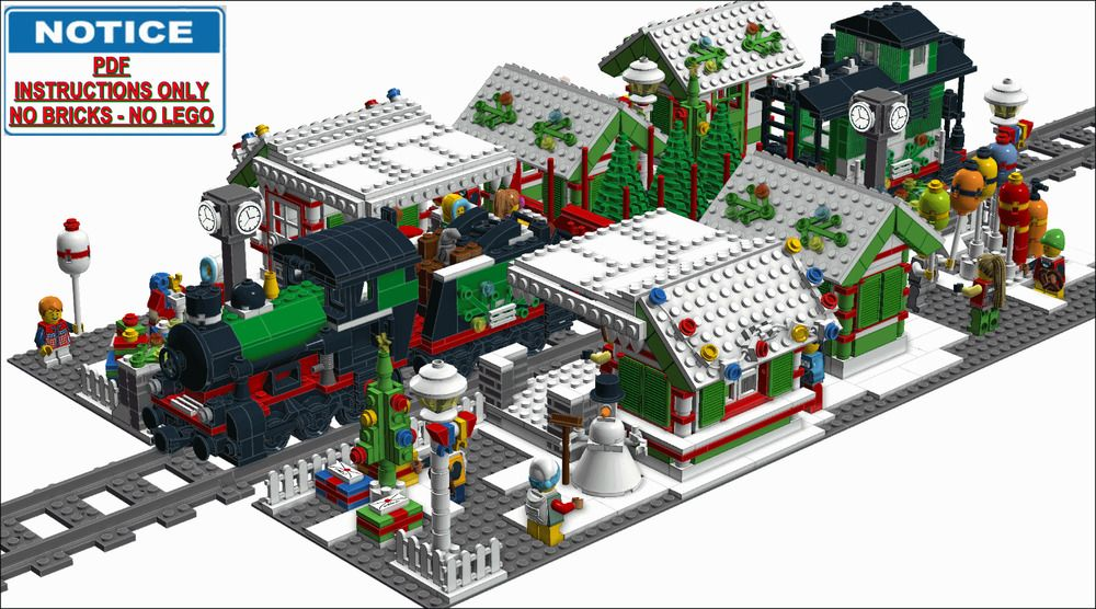 Details About Lego City Custom Train Station Instructions Only Lego Train Station Lego City Lego Trains