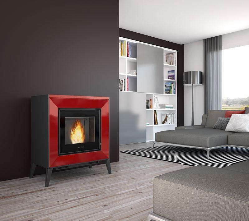 line red in 2019 | Pellet heater, Pellet fireplace, Wood ...
