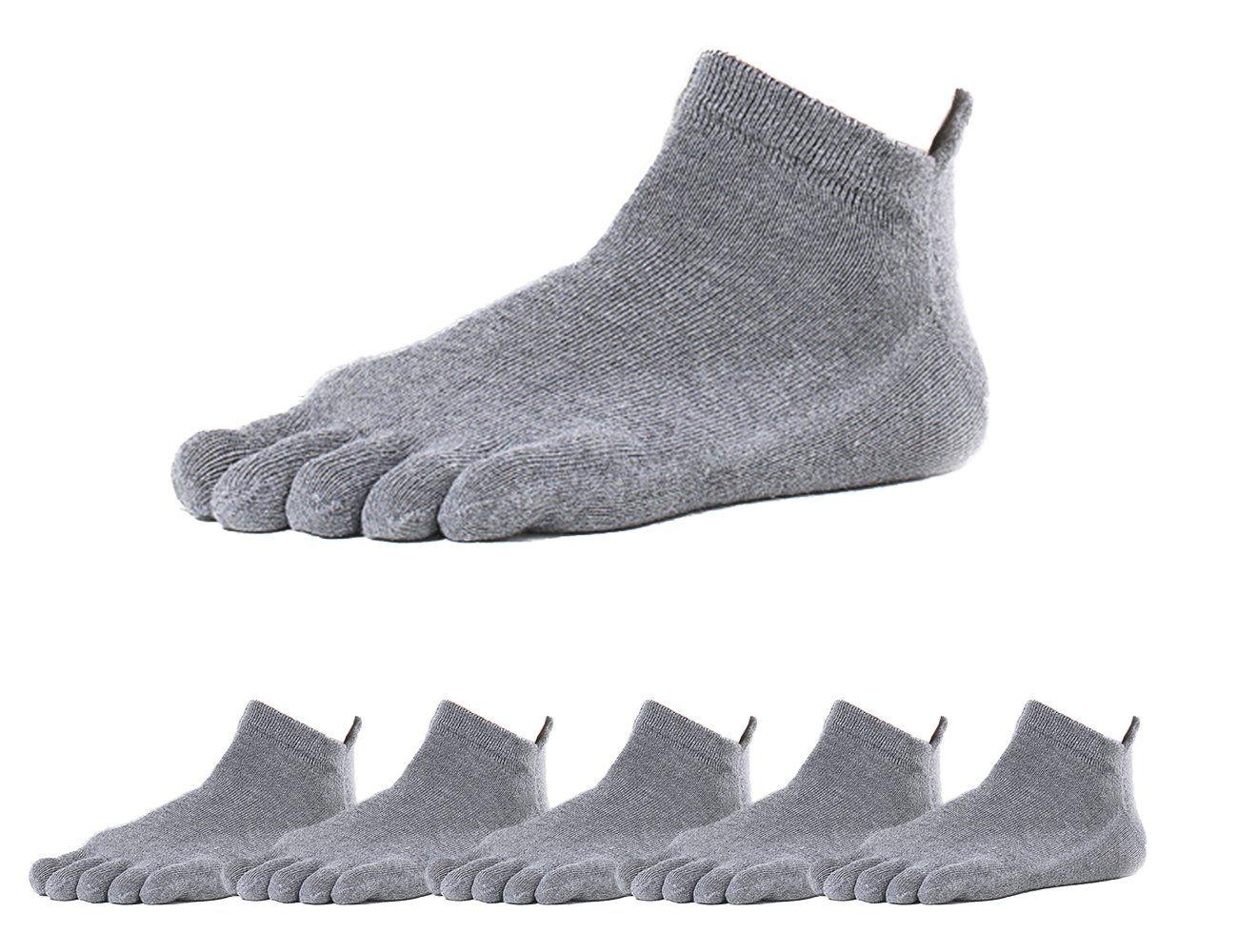 6e3545f11a54f GEOOT 5 Pair Solid Color Men Five Fingers Toe Socks Size 612 Gray ...