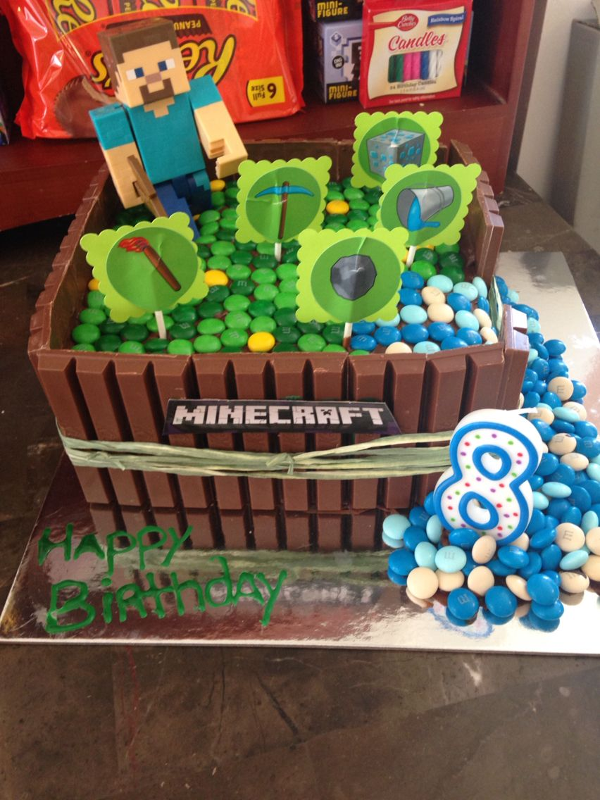 Minecraft Kitkat cake | For the kiddos | Minecraft Cake