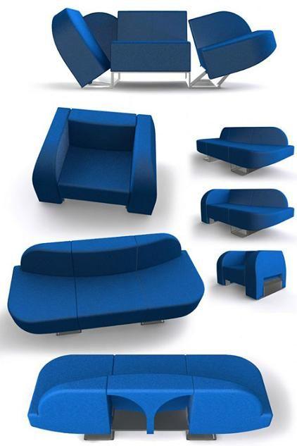 Transformable Sofa Transforming Furniture Space Saving