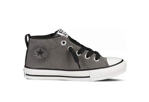 Chuck Taylor All Star Street Mid En Cuir- Gris Anthracite