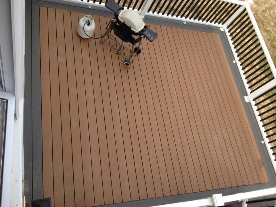 Trex Enhance Decking in Beach Dune with a Clam Shell ...