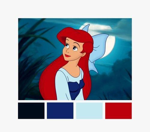 Ariel Color Palette Disney Colors Movie Color Palette Mermaid Colors Palette