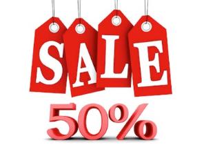 sale 50 korting
