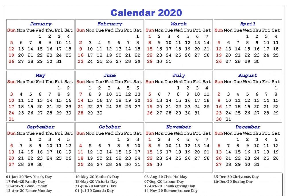 Free Printable 2020 Calendar With Holidays Free Printable Calendar Templates Printable Calendar Template Calendar Template