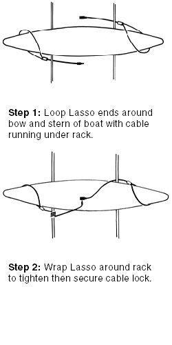 Canoe Roof Rack Lasso Security Systems Kayak Rack Canoe Lock For