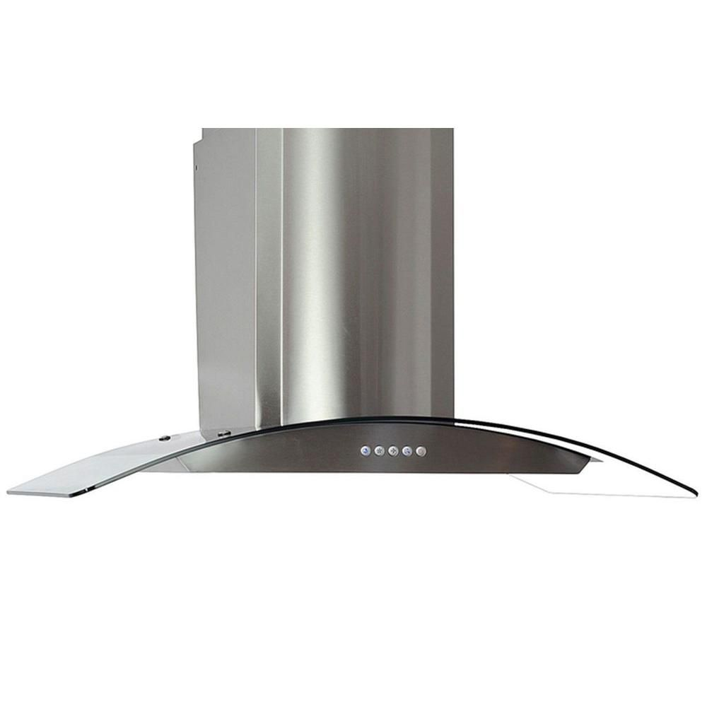 Cosmo 36 In Ducted Wall Mount Range Hood In Stainless Steel With Led Lighting And Permanent Filters Cos 668a900 The Home Depot Wall Mount Range Hood Range Hood Steel Wall