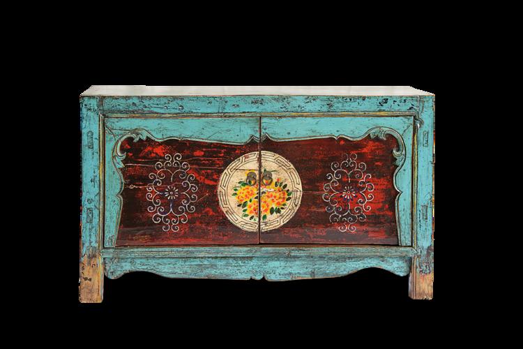 aparador estilo antiguo chino en lacado alto brillo