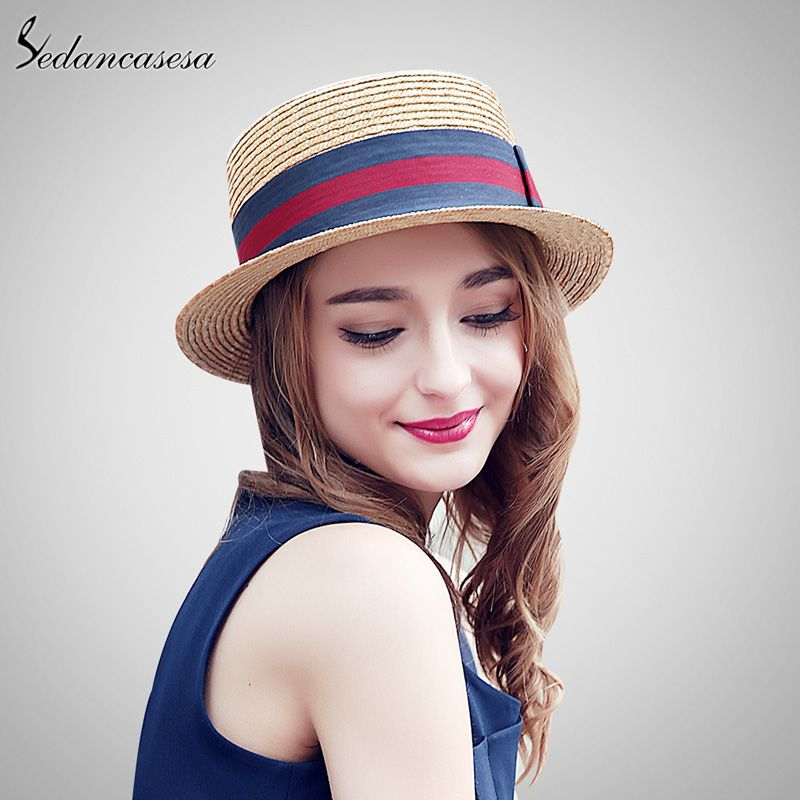 Brand Fashion Womens Vintage Beach Summer Straw Trilby Hat With Bow  Wholesale Sun Hats What a beautiful image  shop  beauty  Woman s fashion   Products  Hat 2d65fa40a9