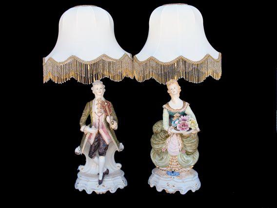 capodimonte+lamps | Capodimonte Pair of Figurine Lamps (SE-237A&BV ...