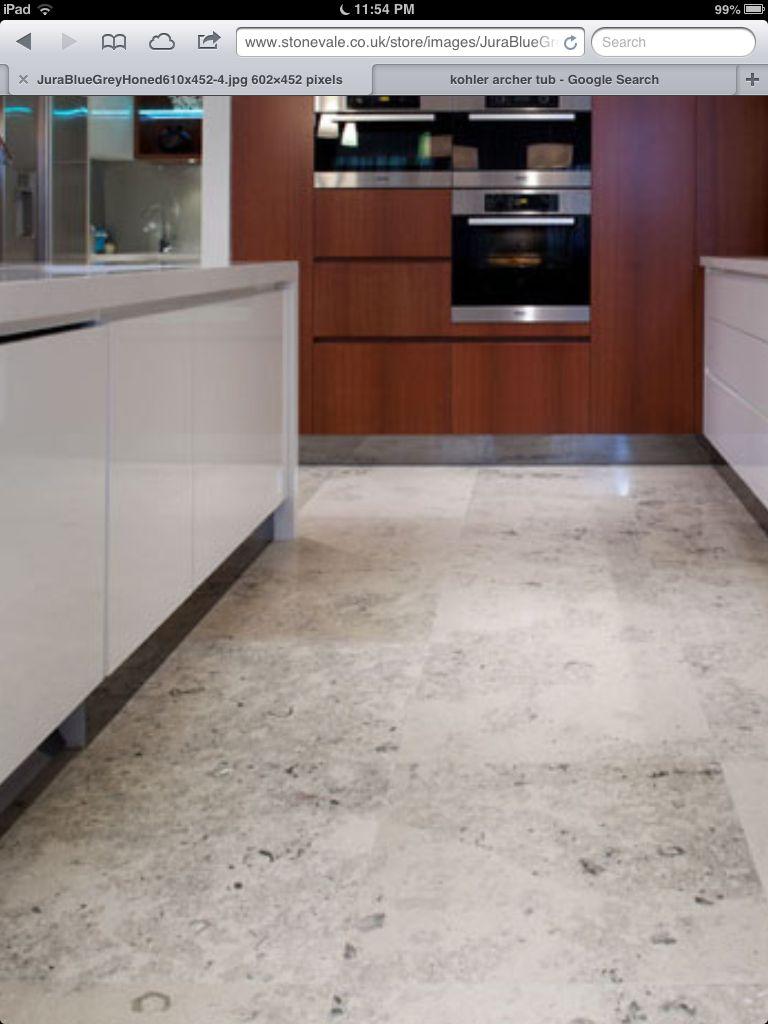 Jura blue grey limestone floor | Oakridge Kitchen | Pinterest ...