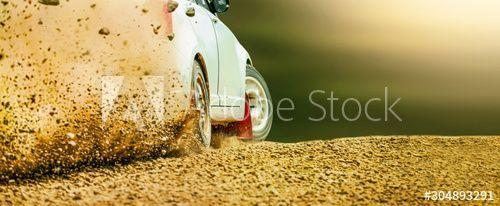 Rally race car drifting on dirt track. , #AFFILIATE, #car, #race, #Rally, #track, #dirt #Ad