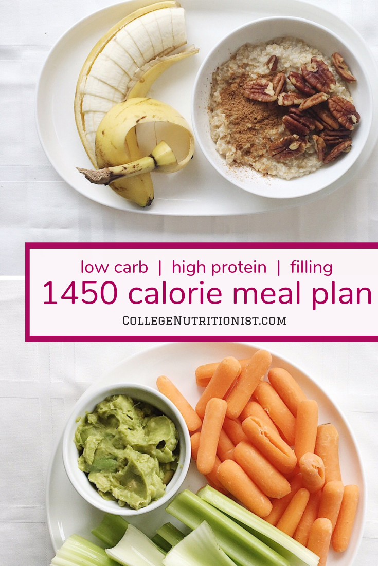 1450 Calorie Filling Low Carb Meal Plan With Guac And Pumpkin Seeds The College Nutritionist Low Carb Meal Plan Filling Low Carb Meals Low Calorie Meal Plans