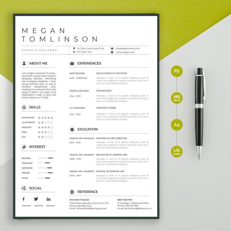 Professional resume template resume template google docs