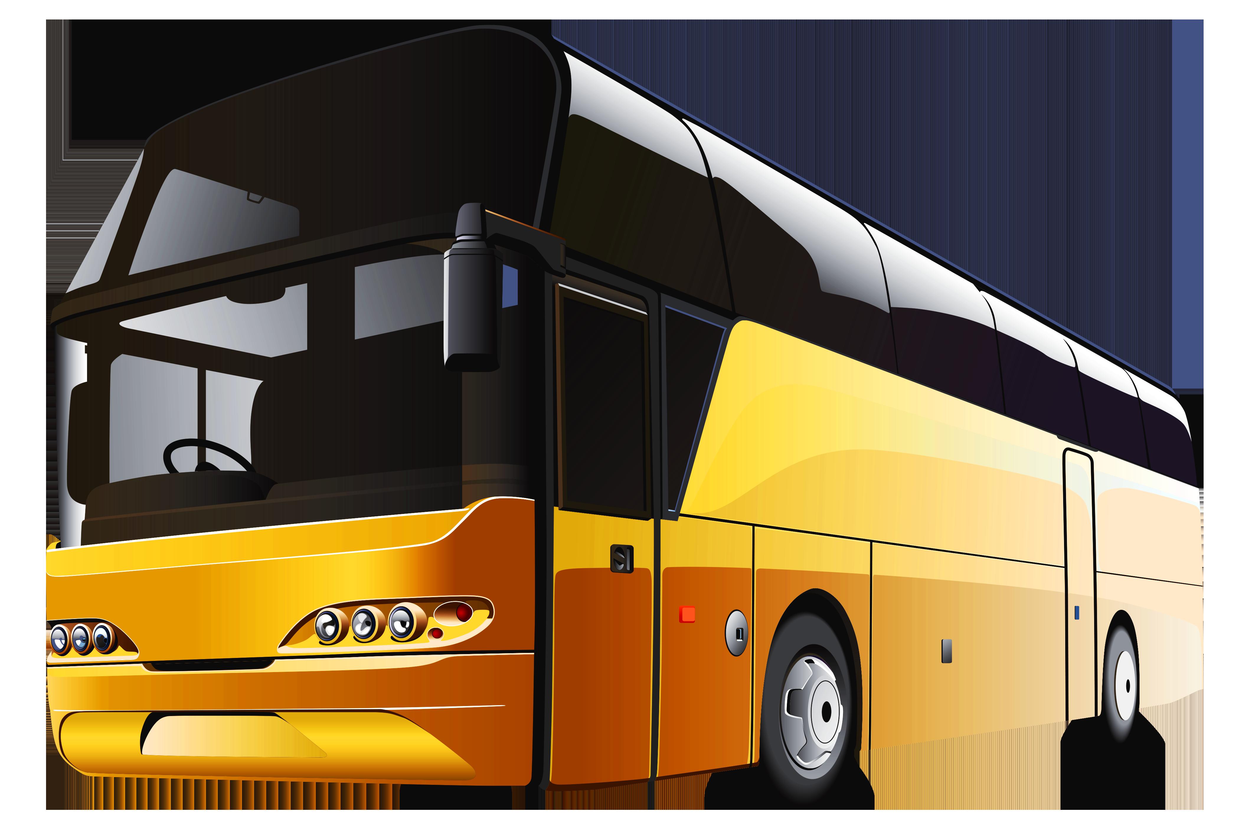 Yellow Bus Png Clipart Bus Clip Art Bus Cartoon