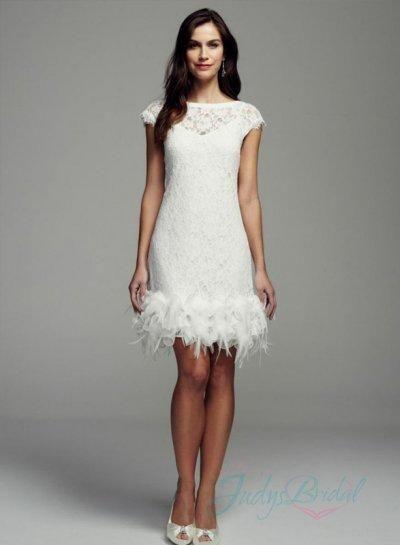 jol290 lovely little white short cap sleeves lace wedding dress