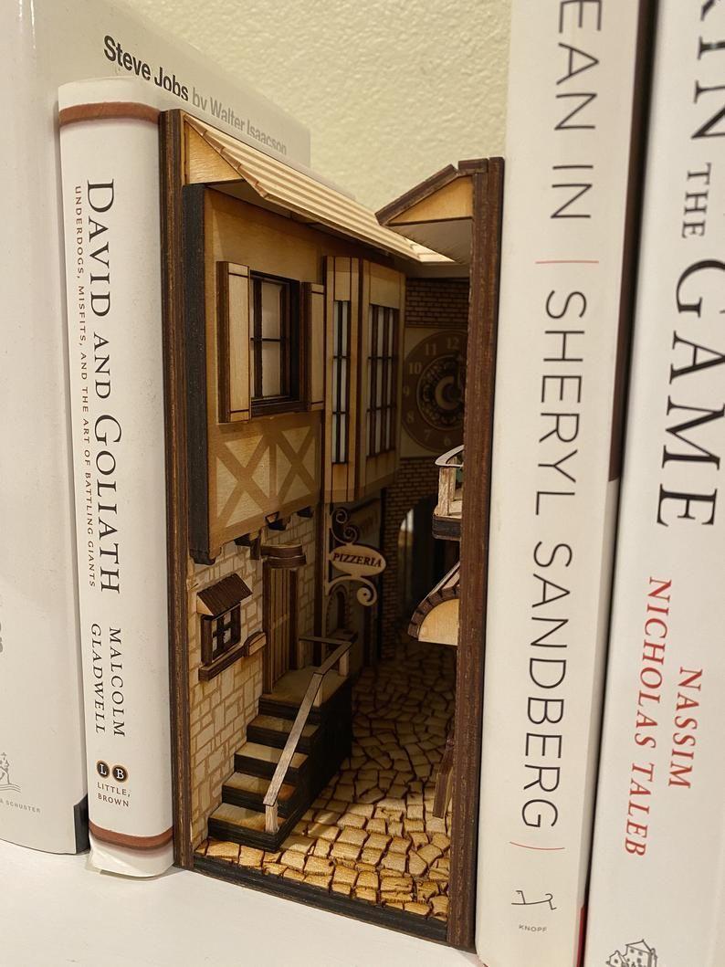 Book Nook Book Shelf Insert Book Shelf Decoration Bookend Book Bookend Decoration Insert Nook Shelf In 2020 Book Nooks Bookshelf Art Bookends