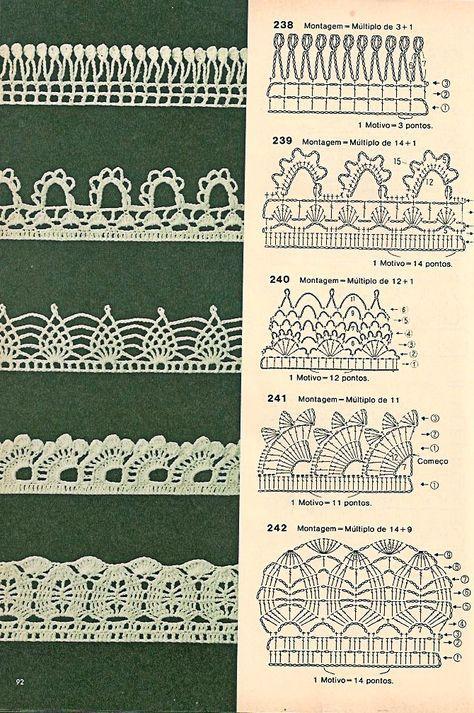 Bicos de crochê com gráficos | Pinterest | Ganchillo, Comprar y Tejido