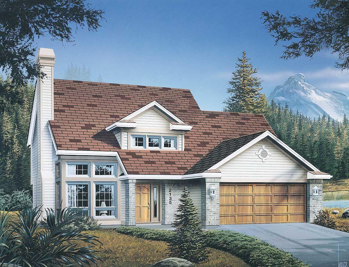 Plan 6824AM Contemporary Home Designed for Narrow