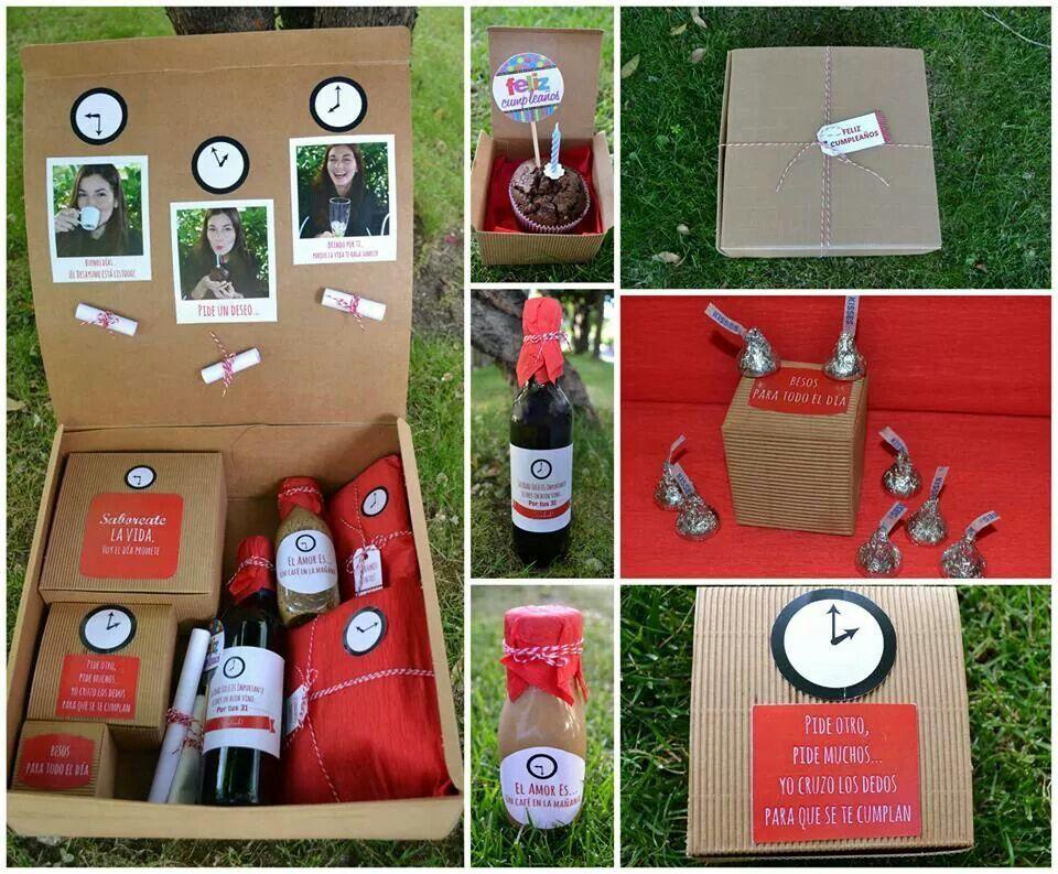 La caja de cumplea os diy things pinterest caja de - Sorpresa cumpleanos amiga ...