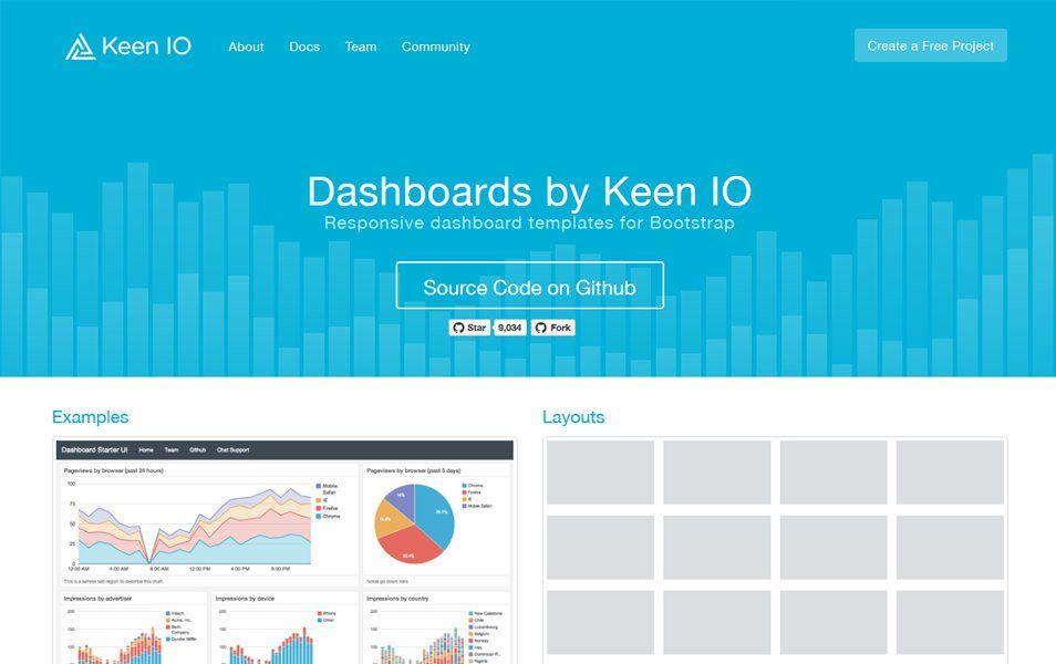 Dashboards by Keen IO   Ui   Free dashboard templates