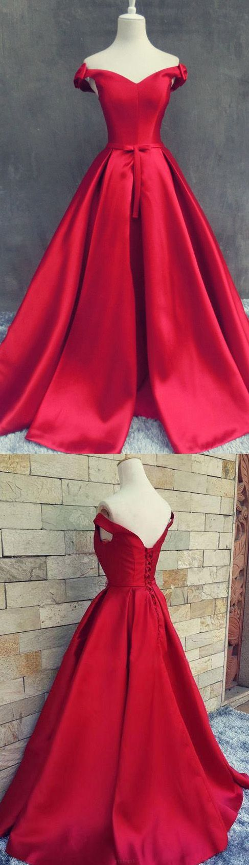 Sweep train prom evening dress long red dresses with lace up pleated