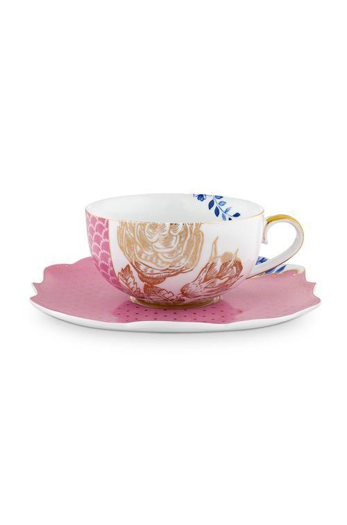 Pip Studio Royal Pink Teacup Saucer
