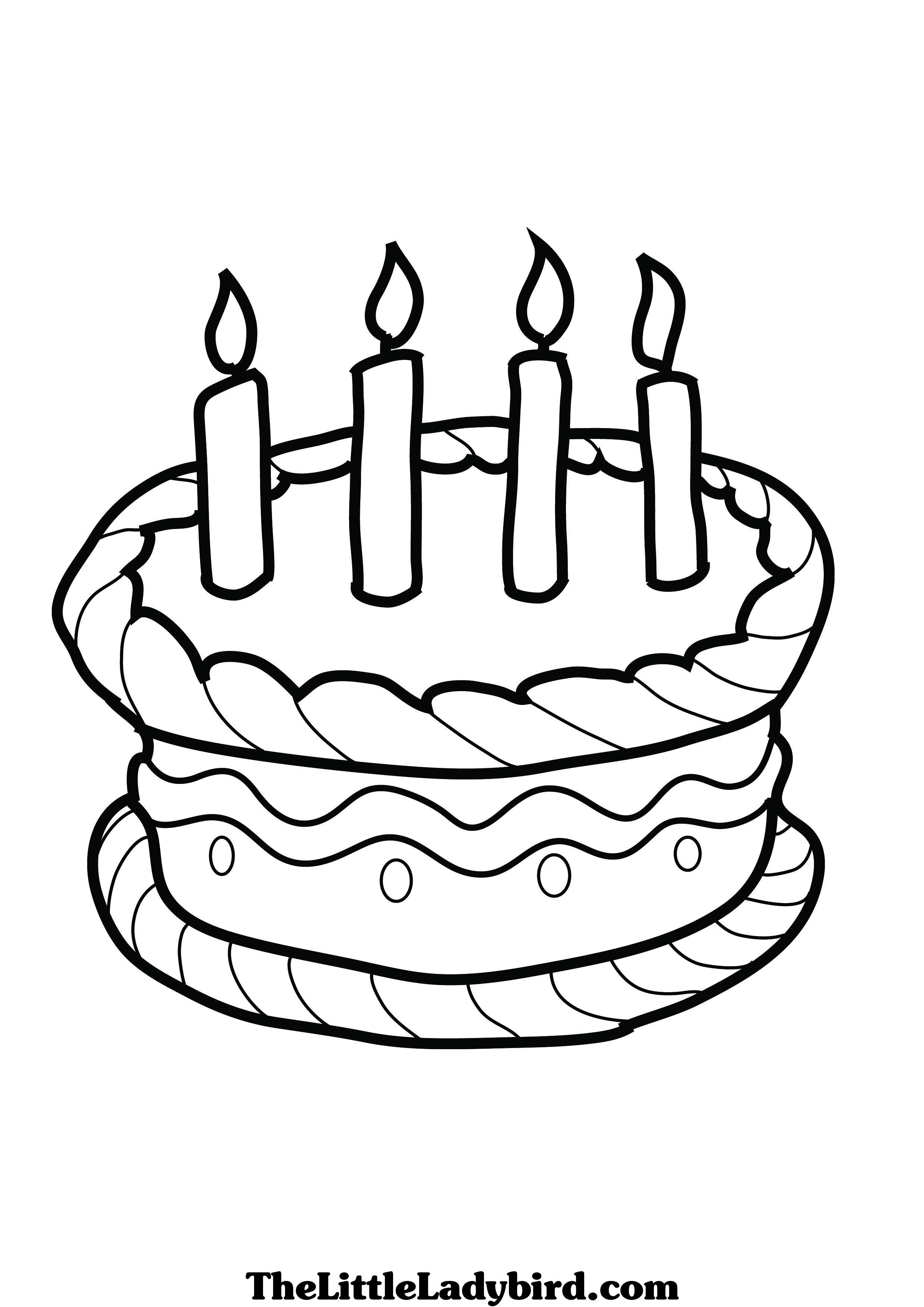 Birthday Cake Coloring Pages Happy Birthday Coloring Pages Birthday Coloring Pages Birthday Cake Clip Art