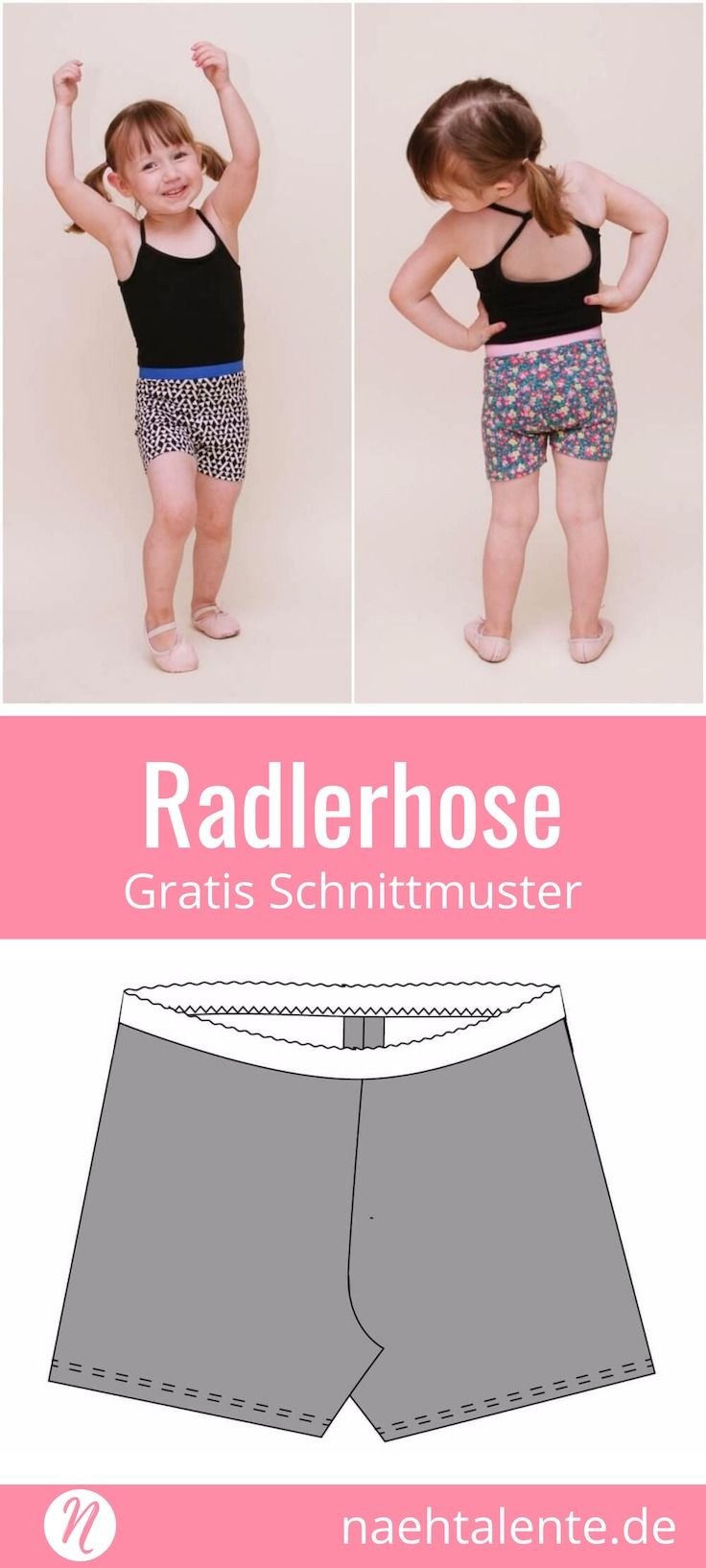 Radlerhose für Kinder - Freebook | Pinterest | Radlerhose, Shorts ...