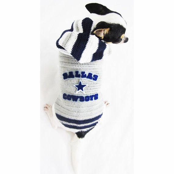 a0fef2ff7de Dallas Cowboys Dog Hoodie Sweater Jersey Pet Clothes by myknitt, $35.00