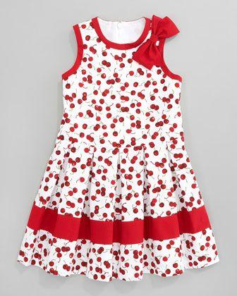 Cherry Pleated Dress By David Charles At Neiman Marcus David