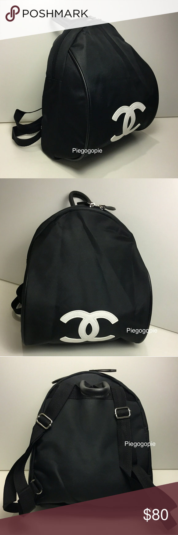 91405e2b3854f0 Authentic Chanel Nylon Logo Backpack Brand New Authentic 2018 Chanel GWP  Gift Black Nylon Backpack-