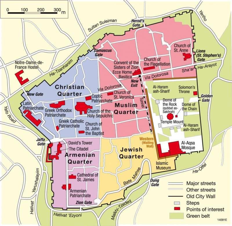 Maps jerusalem holy city for three world religions diercke maps jerusalem holy city for three world religions diercke gumiabroncs Choice Image