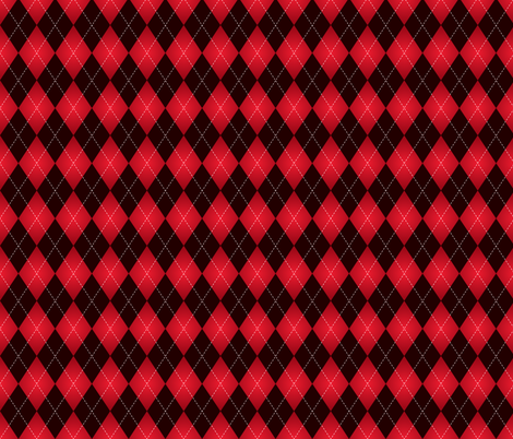 Black And Red Argyle 3 Fabric By Black And Red Red Aesthetic Red Wallpaper