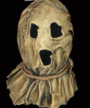 image result for 1900s burlap sack halloween mask
