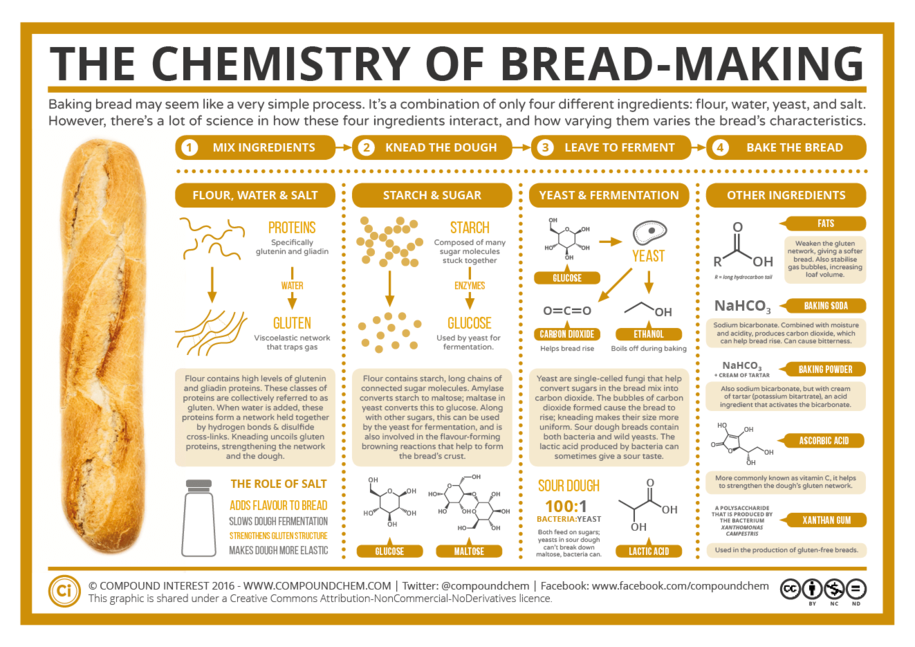 The Chemistry of Bread Making | Kitchen Techniques | Pinterest ...