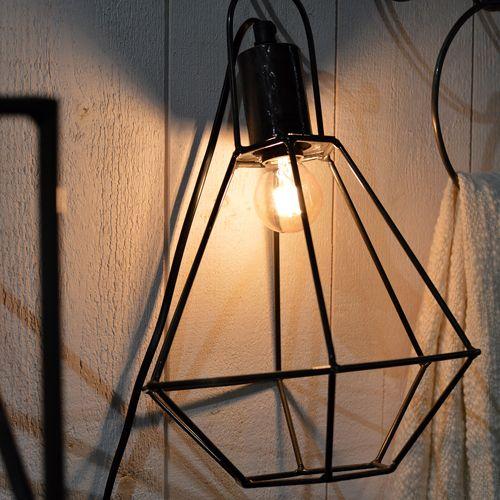 Lampe baladeuse métal filaire noir diamant Noho Jardin d\'Ulysse ...