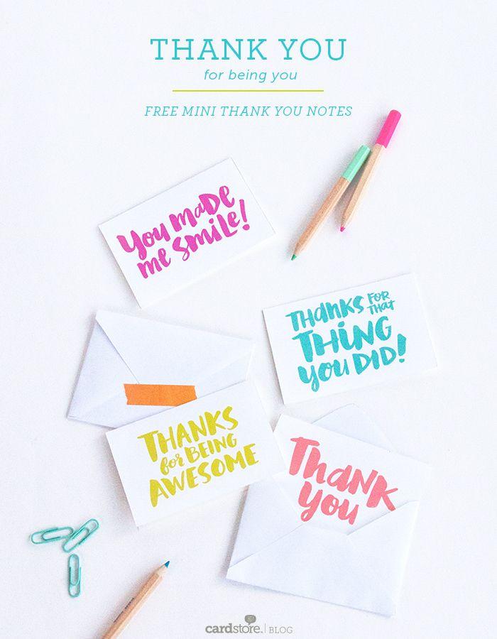 Cardstore Closing Printable Notes Printable Thank You Notes Printable Thank You Cards