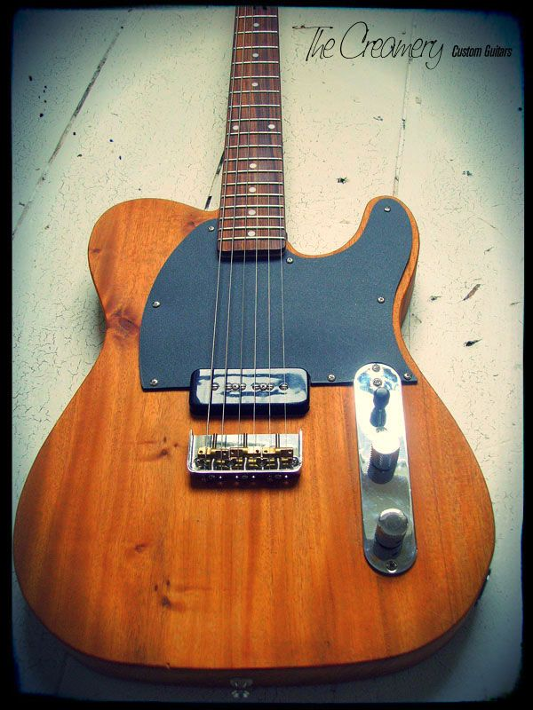 creamery custom handmade mahogany single p90 pickup esquire style guitar telecaster esquire. Black Bedroom Furniture Sets. Home Design Ideas