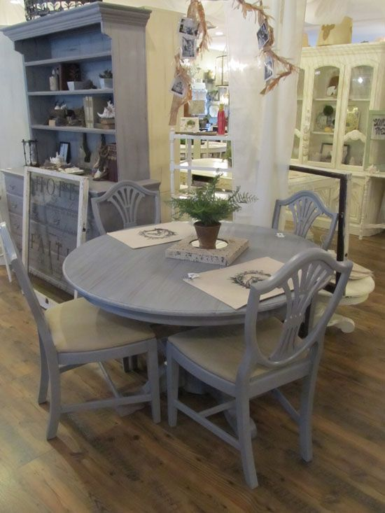 Paint China Cabinet And Table Gray Round Dining